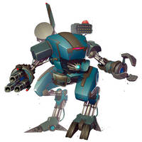 robot concept art by chesterocampo