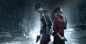 Resident Evil 2 Artwork Leon and Claire