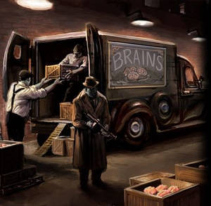 The Godfather Five Famlies Zombie Delivery Truck