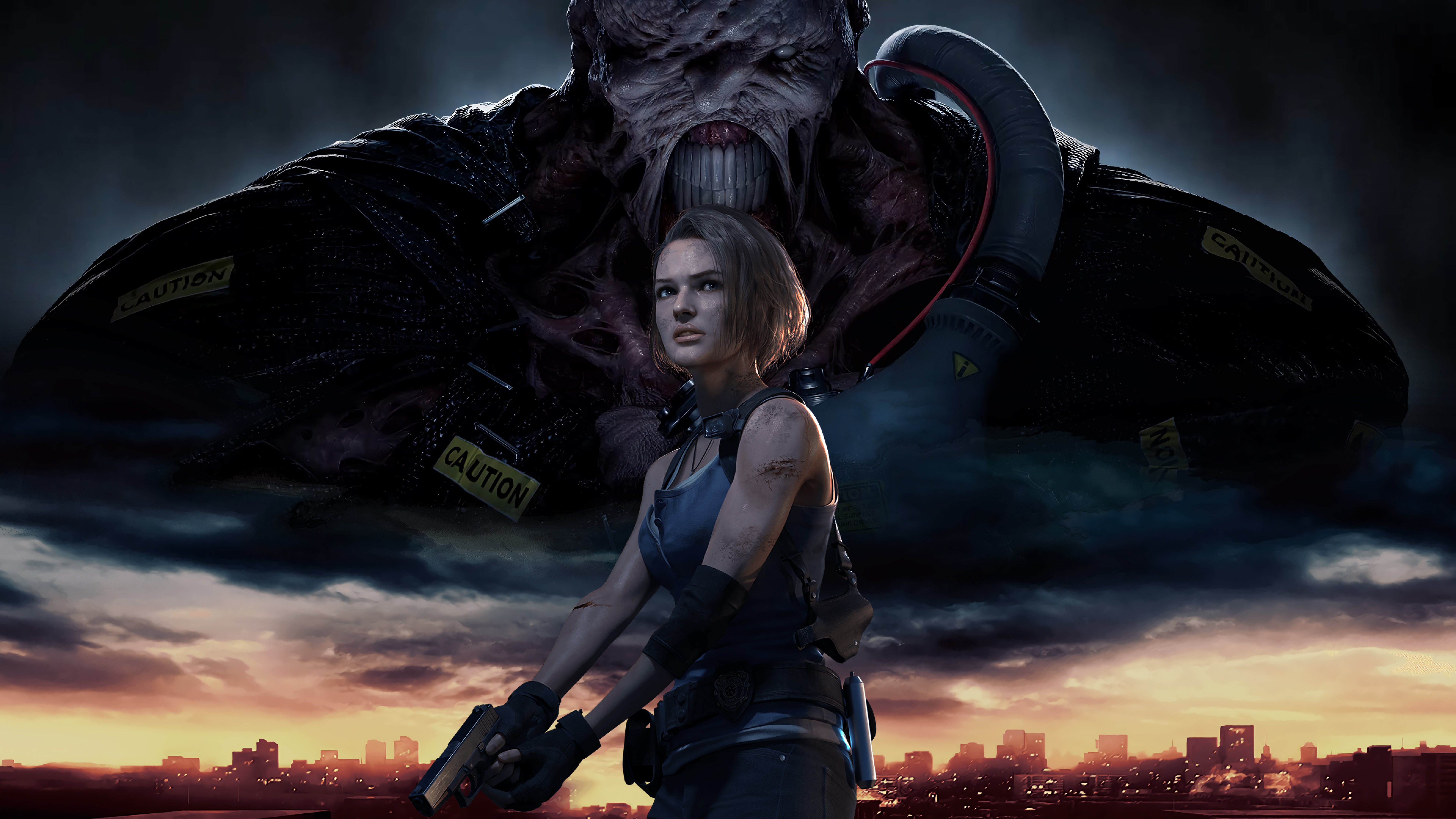 Resident Evil 3 Remake Cover Art Jill And Nemesis By