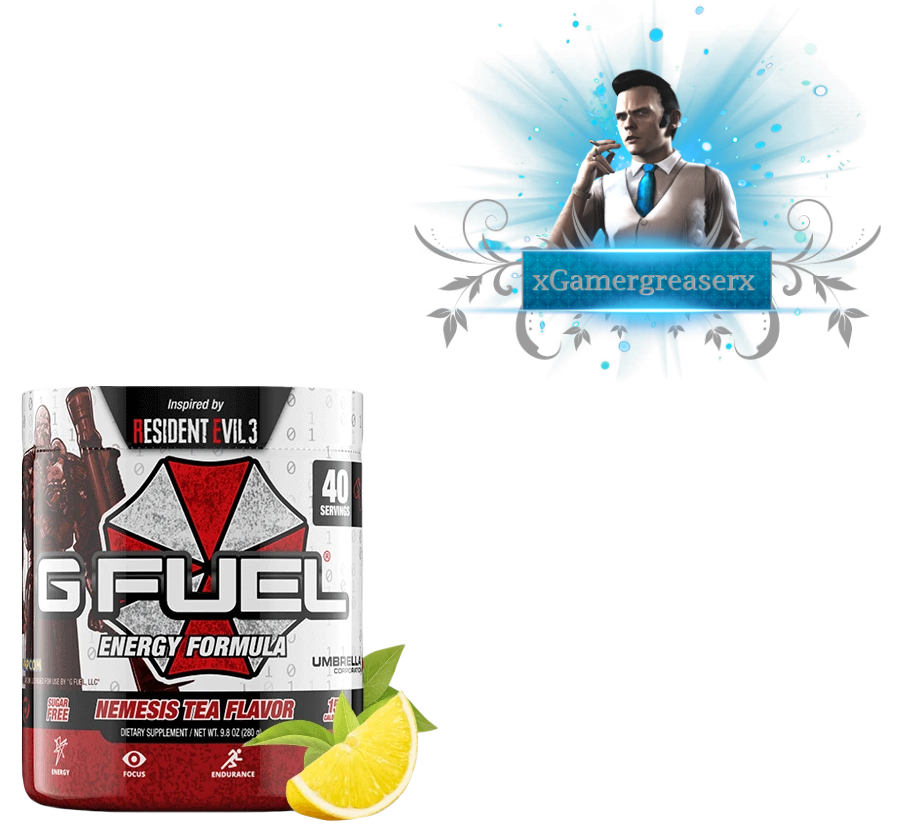 Gfuel X Residentevil 3 Nemesis Tea Flavor Png By Xgamergreaserx On
