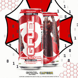 Gfuel x ResidentEvil Promo Energy Drink Can Art