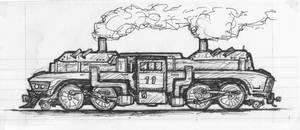 2-4-4-2 Fantasy Steam Engine