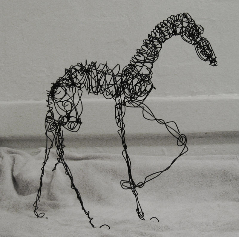 Wire dog 3 by clearwater art on deviantart for Dog wire art