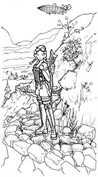 Bavarian Steampunk Girl