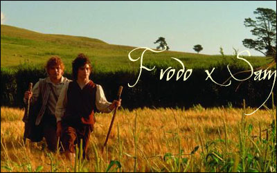 frodo and sam in Lord of the rings