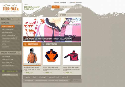 Hiking webshop webdesign
