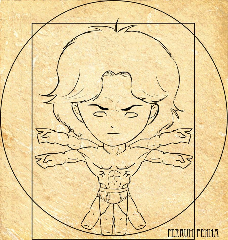 Chibi Leonardo Da Vinci Anatomy By Ferrumpenna On Deviantart