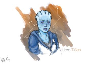 Liara T'Soni by FerrumPenna