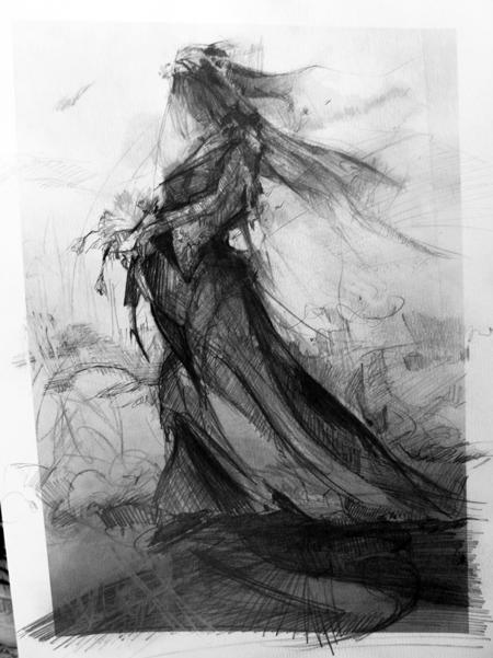 Apparition sketch by wiloberdier
