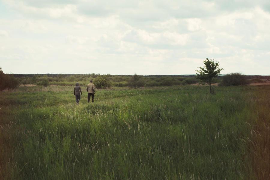 Walking with grandpa by Iliketobeweird