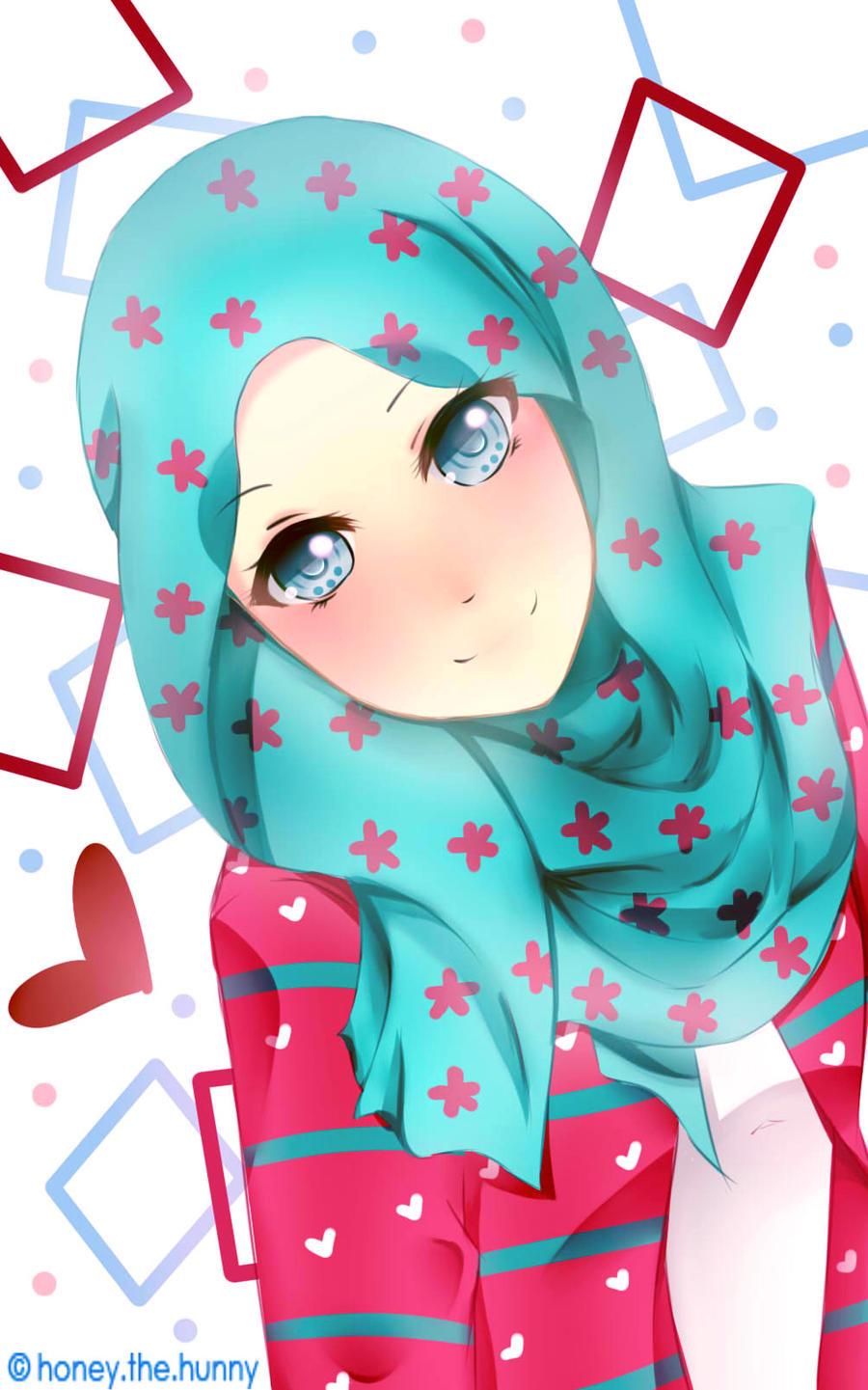 Muslimah Girl by HanekoChan on DeviantArt