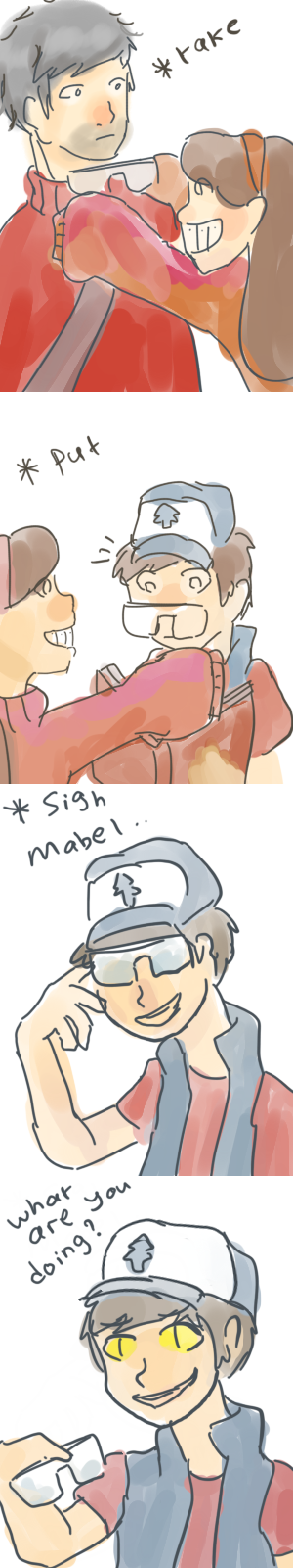 What are you doing Mabel? by teto-and-rin