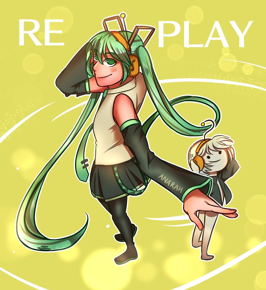 Miku Waifuh Re-play by teto-and-rin