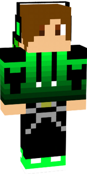 Green creeper jacket and guy for minecraft