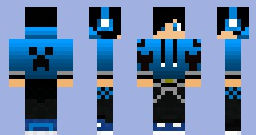 Blue creeper jacket and guy for minecraft