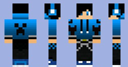 Blue creeper jacket and guy for minecraft by Tails16