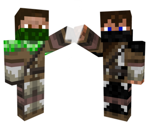 The creeper and Ender man Hunter's