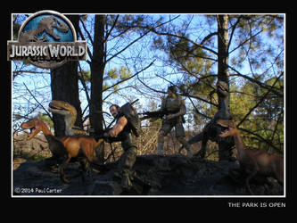 Jurassic World Trained Raptors! by thehunterofsouls