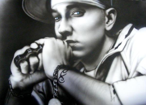 Eminem Airbrush by B-rad-asQ