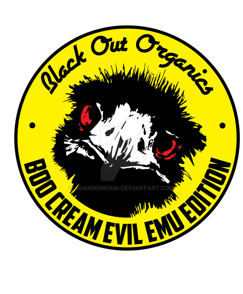 Black Out Organics Boo cream Evil Emu Edition by adambonham