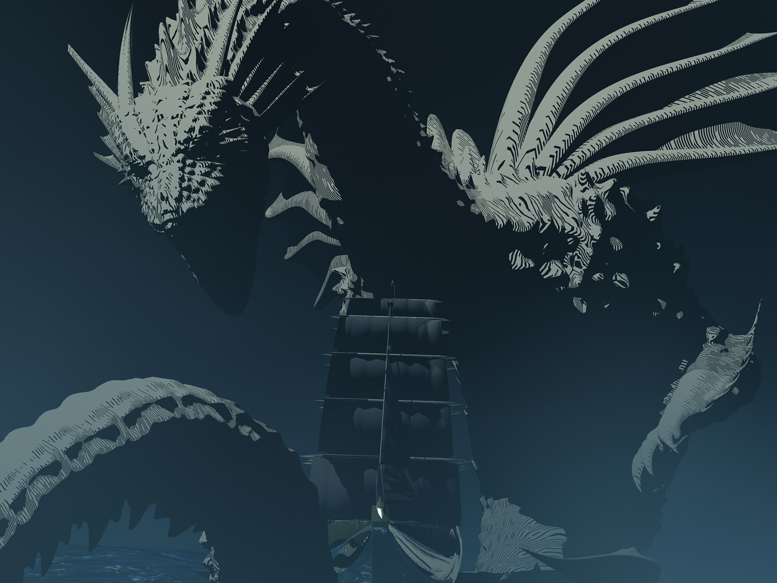 DeepSea Dragon vs. Galleon