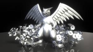 'Risu Dragon' statue by AkaiGaru