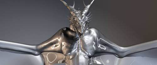 Silver Wyvern - front by AkaiGaru