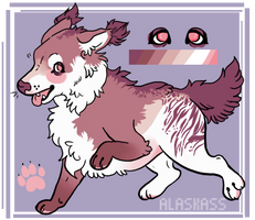 monochromatic fluff dog paypal adopt by alaskass
