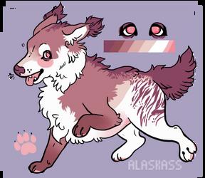 monochromatic fluff dog paypal adopt by alaskass