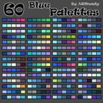 60 blue palettes