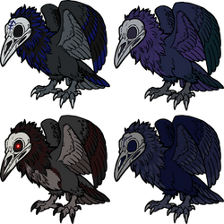 4 Skullcrows for iBrevity by armundy