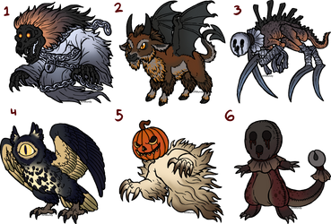 Spooky Adopts (1/6 open) by armundy