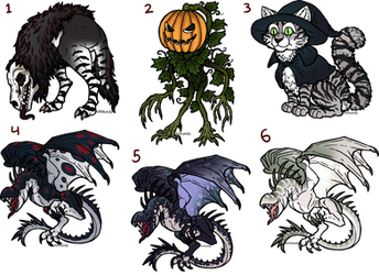 Spooky Adoptables (1/6 open) by armundy