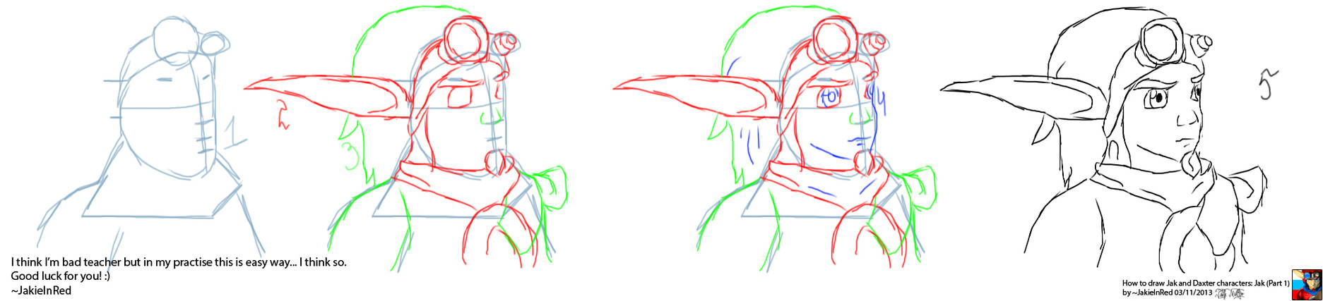 How to draw JxD characters: Jak (Part 1)