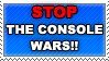 Stop the console wars STAMP by lauratheyoshi