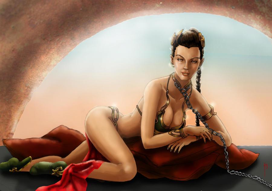 Slave Leia by tararojing