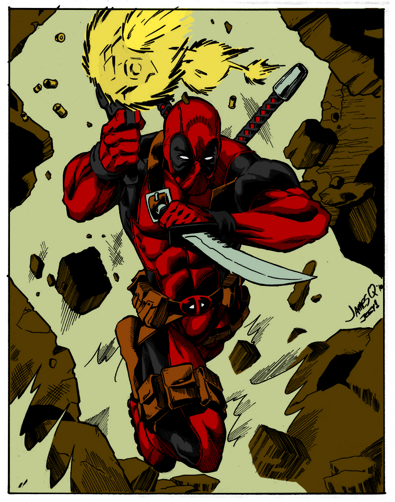 Deadpool Colored by GrimmjowJaggerjack52
