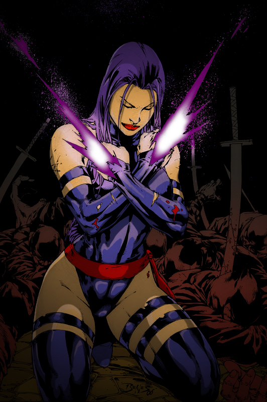 Psylocke Colored by GrimmjowJaggerjack52