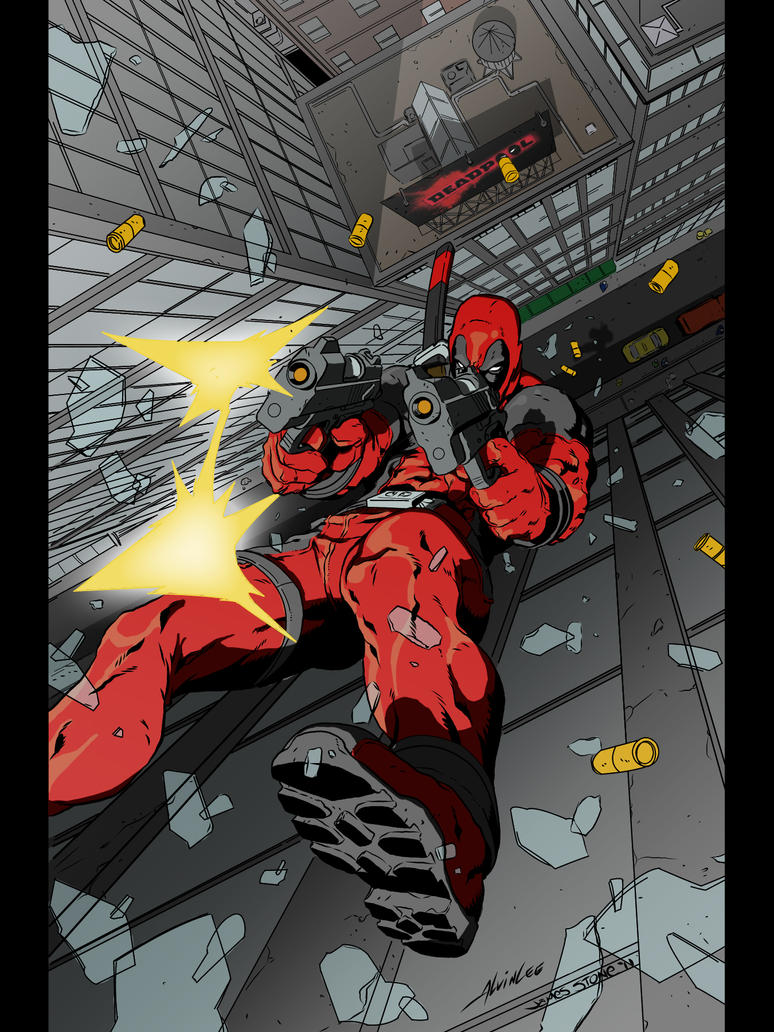 Deadpool day color by GrimmjowJaggerjack52