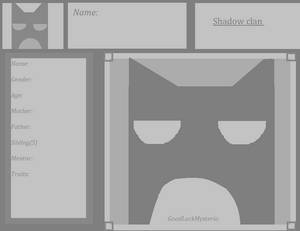 Shadow clan information sheet