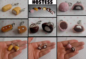 Polymer Clay Hostess Snacks Charms. by 1StandOut1