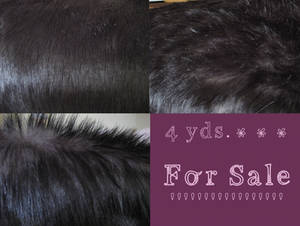 FOR SALE Two-Tone black fur 4 yrds.
