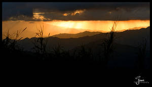 Rainy Sunset in the Mountains