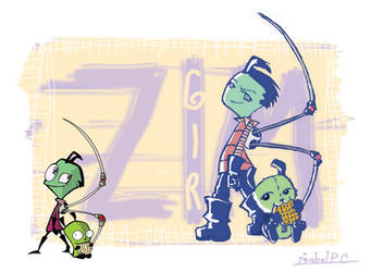 The Real Zim and Gir by DarkLuna