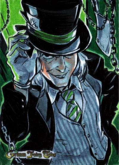 Zenescope Sketchcard Grimm Fairy Tales: Mad Hatter by BeaGifted on