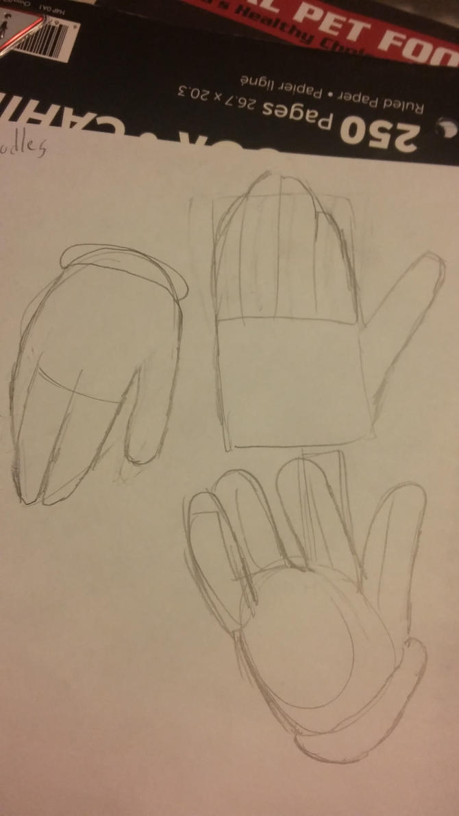 Cartoon-ish Hand practice by candysweetx