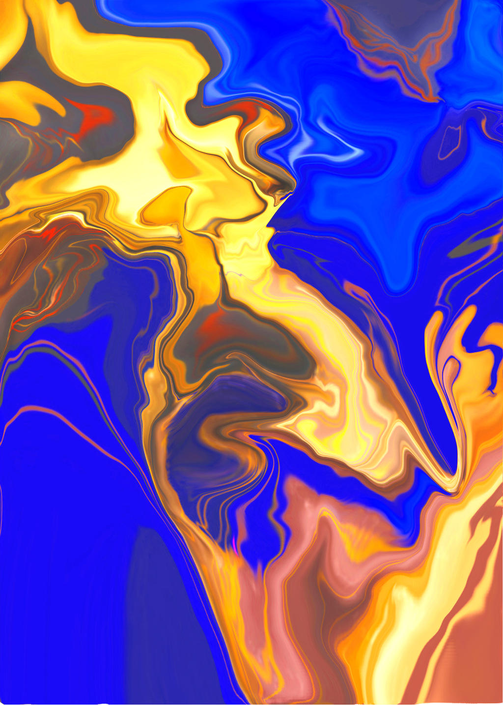 blue on gold by lancgodwin