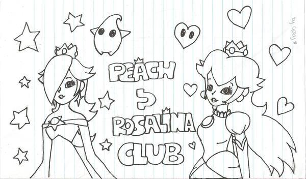 peach n rosalina id lineart by spiderboy1 on deviantart