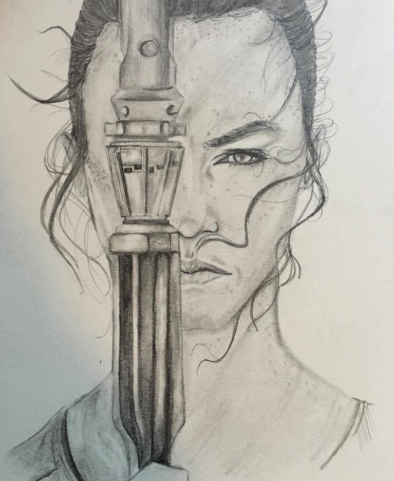Star Wars: Rey by spiderboy1